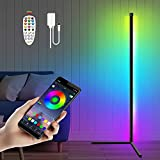 Martiount Floor Lamp, RGBW LED Color Changing Corner Floor Lamp, Dimmable LED Standing Lamp with Remote & APP Control, 61'Tall Music Sync Lamp for Bedroom,Living Room, Gaming Room