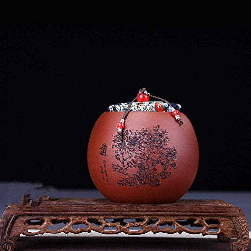Kleine Huishoudelijke Keramische Verzegelde Pot Pu'er Thee Geschenkdoos Handleiding Opslag Thee Jar,Red