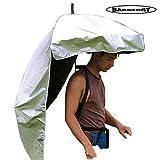 背負う傘 農作業かさ 背中に装着 両手が使える 便利グッズ 日差しカット UVカット 日よけ ガーデニング 釣り (1)