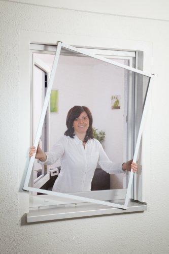 Insektenschutz Fliegengitter Fenster 1A MEISTERQUALITÄT weiß bis 130 x 150 cm Montagevideo PORTOFREI!!!