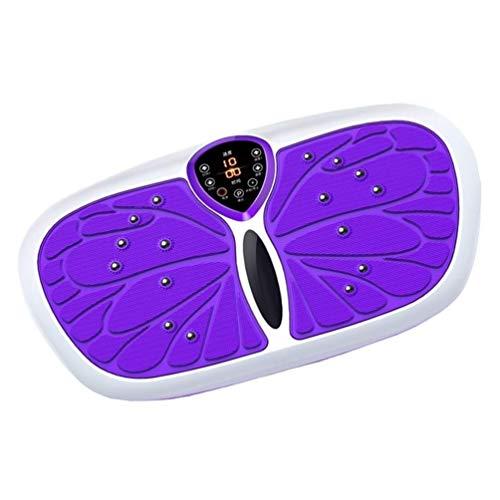 N/Z Living Equipment Plataforma vibratoria Power Plate Todo el Cuerpo Vibrador Masajeador Control Remoto (Color: Morado)