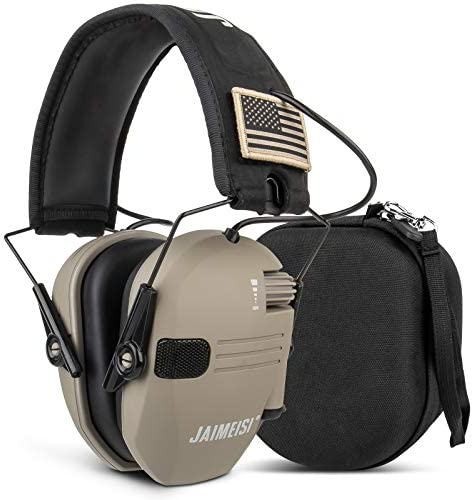 Electronic Shooting Earmuffs Tactical Slim Ear Hearing Protection Headphones for Gun Range with product image