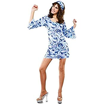 Fyasa 706162-T04 Hippie - Disfraz para niña de 12 años de Edad ...