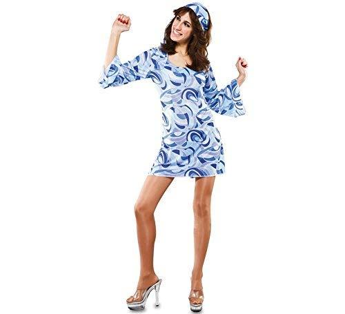 Fyasa 706162-T04 Hippie - Disfraz para niña de 12 años de Edad,, Grande