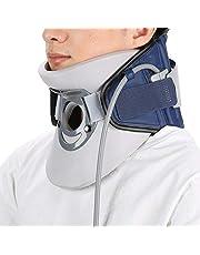 Brrnoo Soporte de vértebra Cervical, Dispositivos de tracción Cervical Alivio del Dolor de Cuello Inflable Soporte para Dolor de Cuello Espondilosis Postura Correcta Collar Cervical(1#)