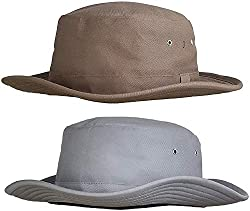 Zacharias Mens Cricket Umpire Hat Pack of 2 Beige & Light Grey
