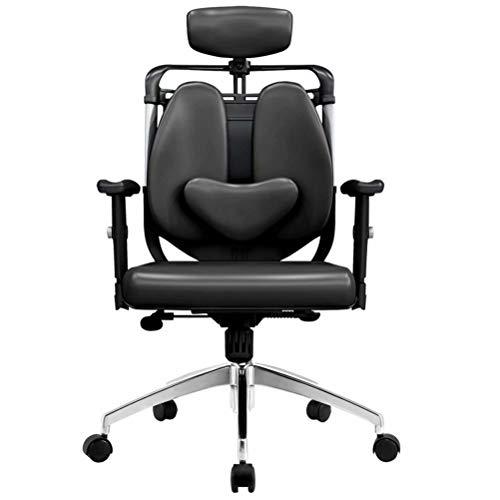Bureaustoel Computerstoel Mesh met opklapbare armleuning Ergonomische opheffing Boss Draaistoel Taille Dubbele bureaustoel