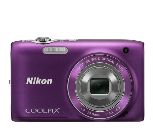 Nikon COOLPIX S3100 14 MP Digital Camera with 5x NIKKOR Wide-Angle Optical Zoom Lens and 2.7-Inch LCD (Purple) (OLD MODEL)