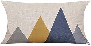 Best QINU KEONU Elephant Deer Mountains Cotton Linen Throw Pillow Case Cushion Cover Home Sofa Decorative (7) Review