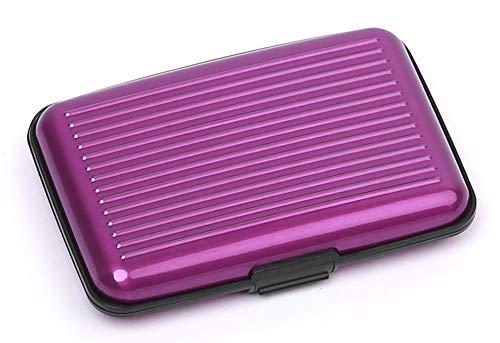 Credit Card Holder Protector, RFID Blocking Aluminum Wallet, Metal ID Case for Women & Men, Purple