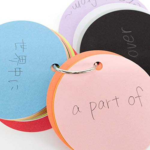 他の受験生には教えたくない色で覚える単語帳単語カード大7cm丸形20色アソート60枚3冊セット