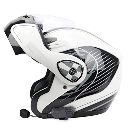 Bluetooth para Adultos Motocicleta Casco de Motocicleta Off-