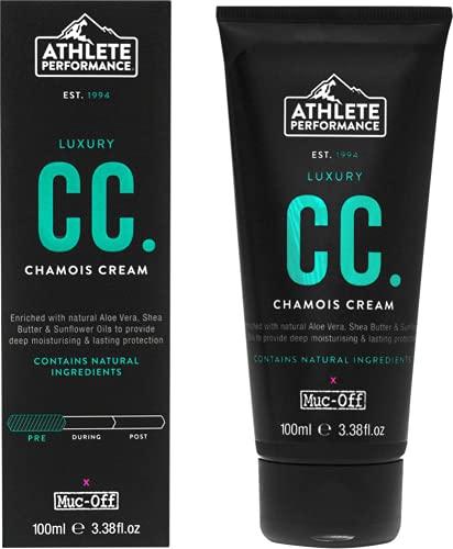 Muc-Off Athlete Performance Luxury Chamois Cream, 100 Milliliters - Anti-Chafing Moisturiser Formulated for Athletes