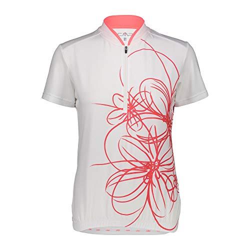 CMP Damen Rad Shirt Trikot, Bianco, 42