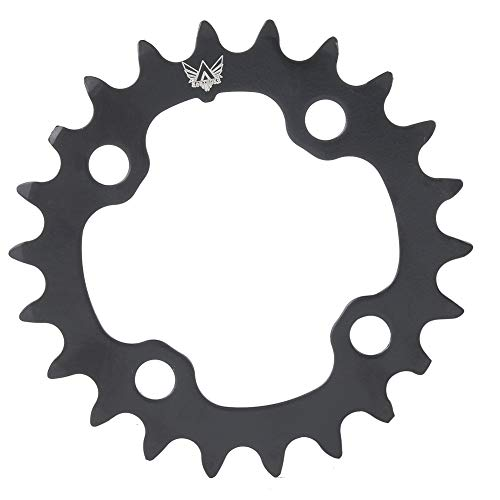 MAGT Fahrradkettenblatt 22T Fahrrad-Kettenblatt Aus Rundem Kohlenstoffstahl Für BCD 104mm 9-Gang-Fahrrad