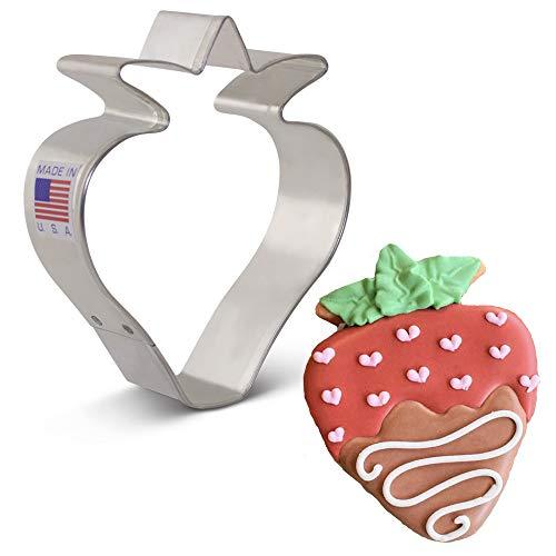 Ann Clark Cookie Cutters Strawberry/Fruit Cookie Cutter, 3.5