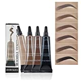 Eyret Makeup Eyebrow Cream Long Lasting High-pigment Liquid Brow Tint Waterproof Sweat Resistant Natural Eyebrows for Women and Girls(Chocolate3#)