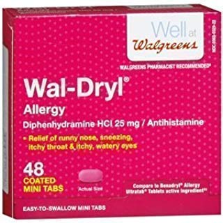 Walgreens Wal-dryl Allergy Relief, Mini-Tabs - 48 count box