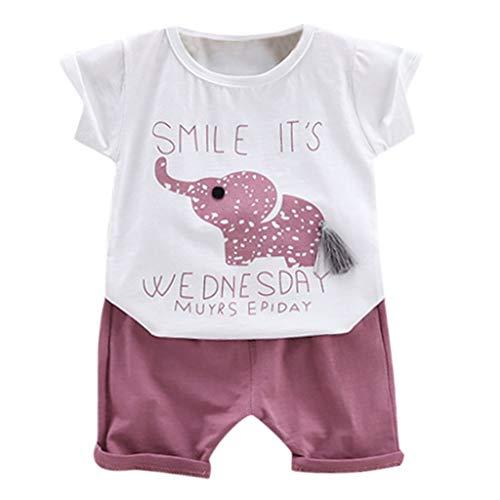 Julhold kleine kinderen jongens meisjes vrije tijd cartoon brief gedrukt katoen T-shirt tops + shorts outfit set 0-4 jaar nieuw