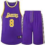 Kids Boys Girls Men Adults NBA LBJ LA Lakers, Summer Basketball Jersey Short Sleeves T-Shirt + Short Pants...