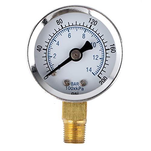 Hemobllo 0-60 Psi 0-4 Bar NPT Luftdruck-Manometer mit seitlicher Montage