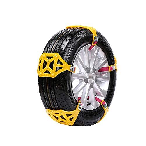 Yunhigh 10 stücke Schneeketten Notfall Reifen Ketten Einstellbare Kabelzug Sicherheit Anti-Skid Ketten Universal für Auto SUV LKW (mit Kostenlose Arbeitshandschuhe)