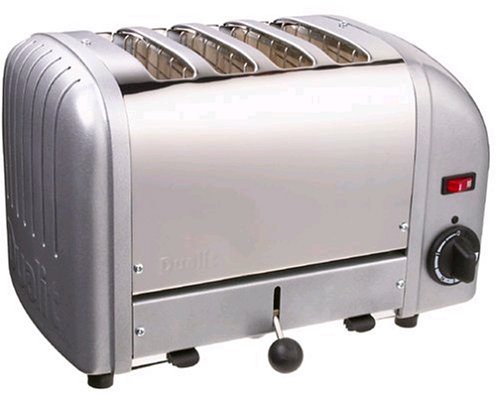 Dualit 40349 4-Slice Bread Toaster - Metallic Silver