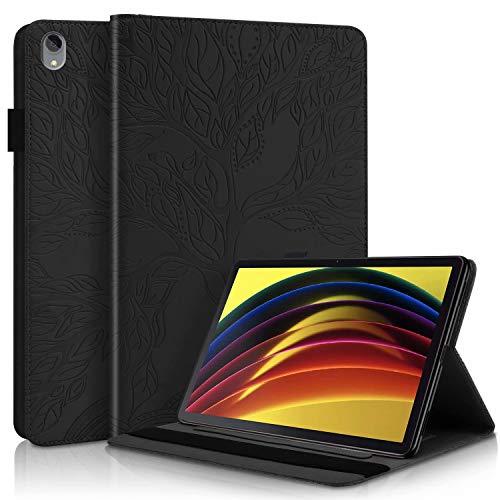 CRABOT Funda Samsung Galaxy Tab A 8.0' 2019(SM-T290/T295/T297) Tablet Cover Case Anti-caída Resistente a Rayones Ranura Tarjeta Billetera Cubierta Protectora Arbol de la Vida -Negro