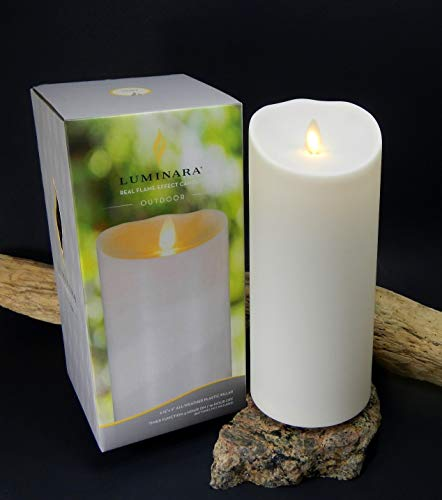Luminara Outdoor Flameless Battery Candles - Flame Effect - Remote Control (5 inch)