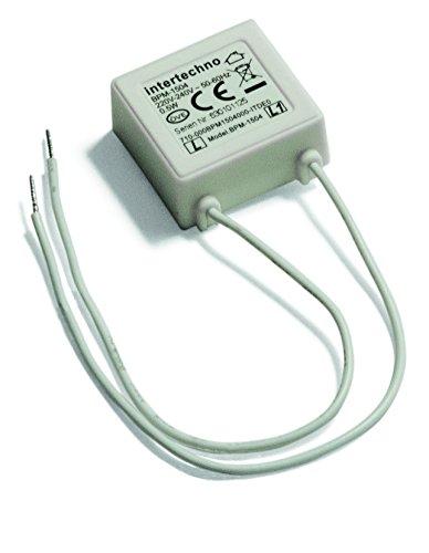Intertechno LED Bypass Modul BPM (0,5 W,verhindert flackern und glimmen von abgeschalteten LED-Lampen, 1l), weiß, 1504
