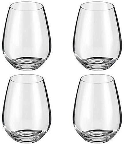 Juego de copas de vino sin tallo Crystalline de 4 piezas