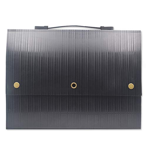 JenLn Bolso del Soporte del documento Caja de plástico de la Carpeta de acordeón de plástico Caja de Administrador de Archivos/de Gran Capacidad Multicolor Stand Carteras de expansión portátiles