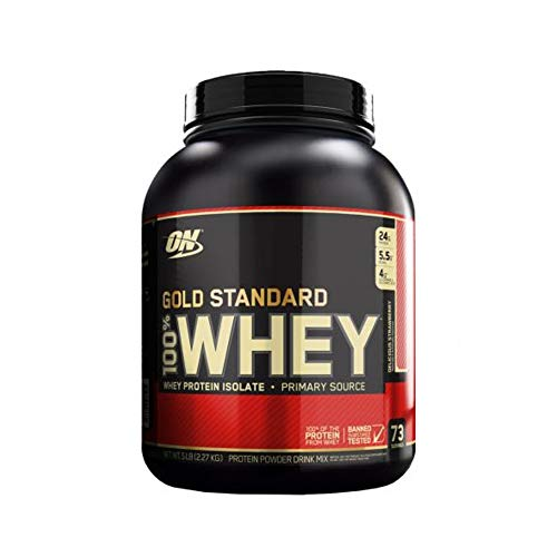 Optimum Nutrition Gold Standard Whey Supplement, 2.27 kg, Delicious Strawberry
