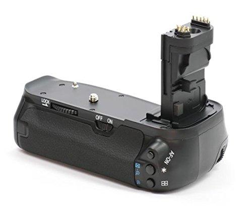 Impulsfoto Profi Batteriegriff kompatibel mit Canon EOS 60D Ersatz für BG-E9 - für LP-E6 und 6 AA Batterien