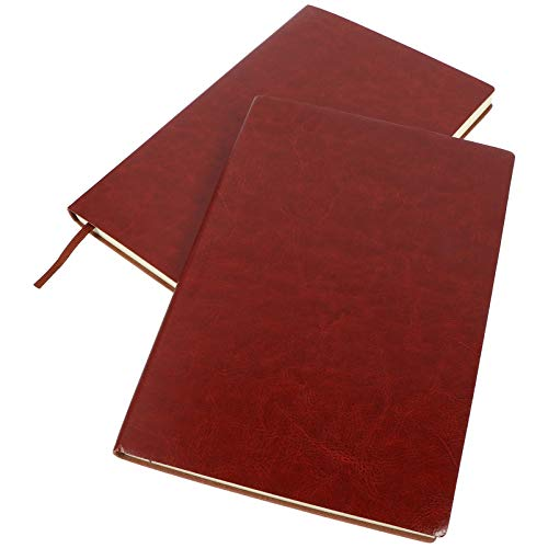 NUOBESTY 2 Uds Cuaderno de Cuero Cuadernos de Escritura de Oficina de Cuero Cuaderno de Planificador Escolar de Oficina para Estudiantes Profesores