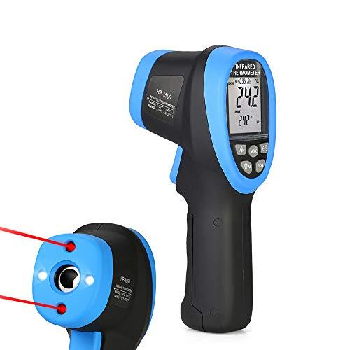 Sengy Digitale infraroodsthermometer, professioneel, dubbel laserapparaat, 30:1 instelbare emissivity-50~1500 Non Contact temperatuurmeter Gun Display