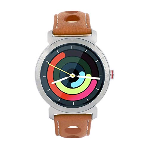 WatchOut Elegant Gen2 Desert Storm Smart Watch with Heart Rate Monitor, Call Feature, Notification, Health and Sports Tracker with Rodeo Designer Leather Strap