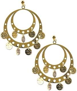Rubie's Costume Co. Pierced Gypsy Earrings Costume, One Size, Multicolor