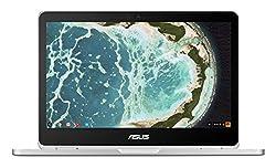 "ASUS Chromebook Flip C302 2-In-1 Laptop- 12.5"" Full HD 4-Way NanoEdge Touchscreen, Intel Core M5, 4GB RAM, 64GB Flash Storage, All-Metal Body, Backlit Keyboard, Chrome OS- C302CA-DH54 Silver"