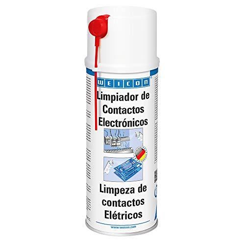 WEICON 11210400-36 Electro Limpiador, 400ml, Spray para componentes electrónicos, Elimina la...