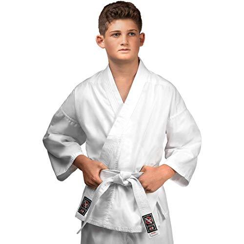 Hayabusa Youth Cotton Karate Gi Uniform - White, 00/120