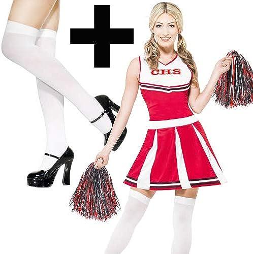 rouge Cheerleader + Stockings XL