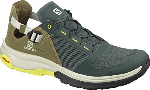SALOMON Herren Shoes Tech Amphib Laufschuhe, Mehrfarbig (Green Gables/Burnt Olive/Evening Pr), 44 EU