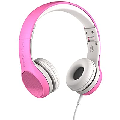 New! LilGadgets Connect+ Style Kids Premium Volume Limited Wired Headphones with SharePort and Inline Microphone (Children, Toddlers) - Pink from LilGadgets