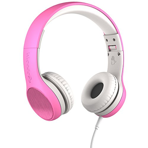 New! LilGadgets Connect+ Style Kids Premium Volume Limited Wired Headphones with SharePort and Inline Microphone (Children, Toddlers) - Pink