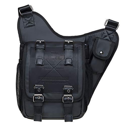 KAUKKO Herren Crossbody Tasche Verstellbarem Schultertaschenk für Alltag, Festival &...