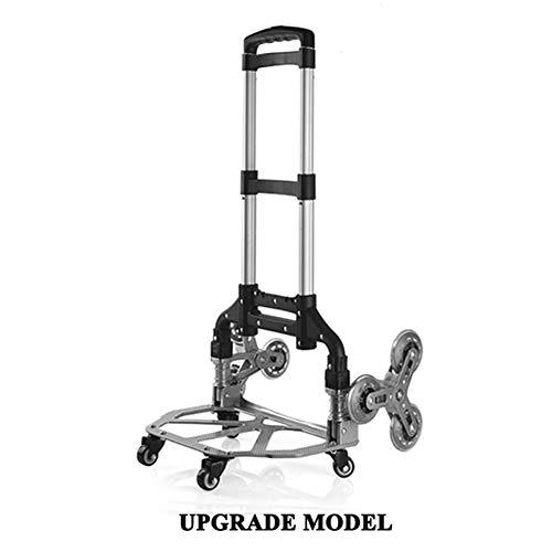 Carretilla de Mano 60kg Plegable de Multiples Posiciones para Trabajos Pesados, Fácil de usar,Carretilla plegable de aluminio especial para escaleras, La carretilla especial