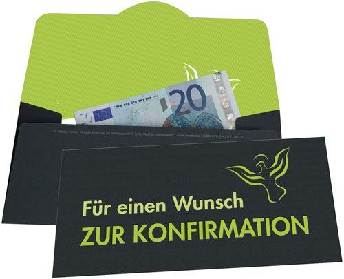 Für einen Wunsch zur Konfirmation: Umschlag für ein Geldgeschenk