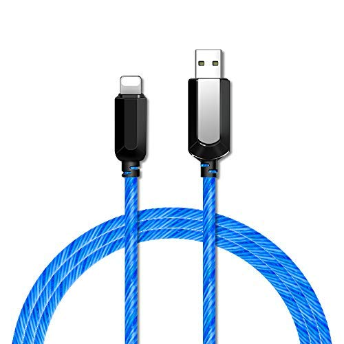 Led iPhone Charger, BUSOH [Apple MFi Certified] 3 Feet Led iPhone Charging Cable, 360