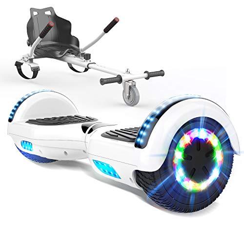 HITWAY 6,5 Zoll Hoverboard mit Hoverkart Elektro Scooter Self Balance Scooter E Scooter für Kinder und Jugendliche